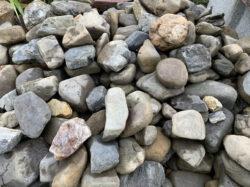 桂川の延段用の小石