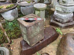 本御影石の手水鉢