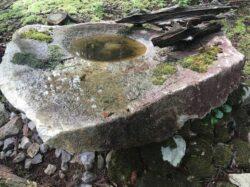 古丹波石の水盤